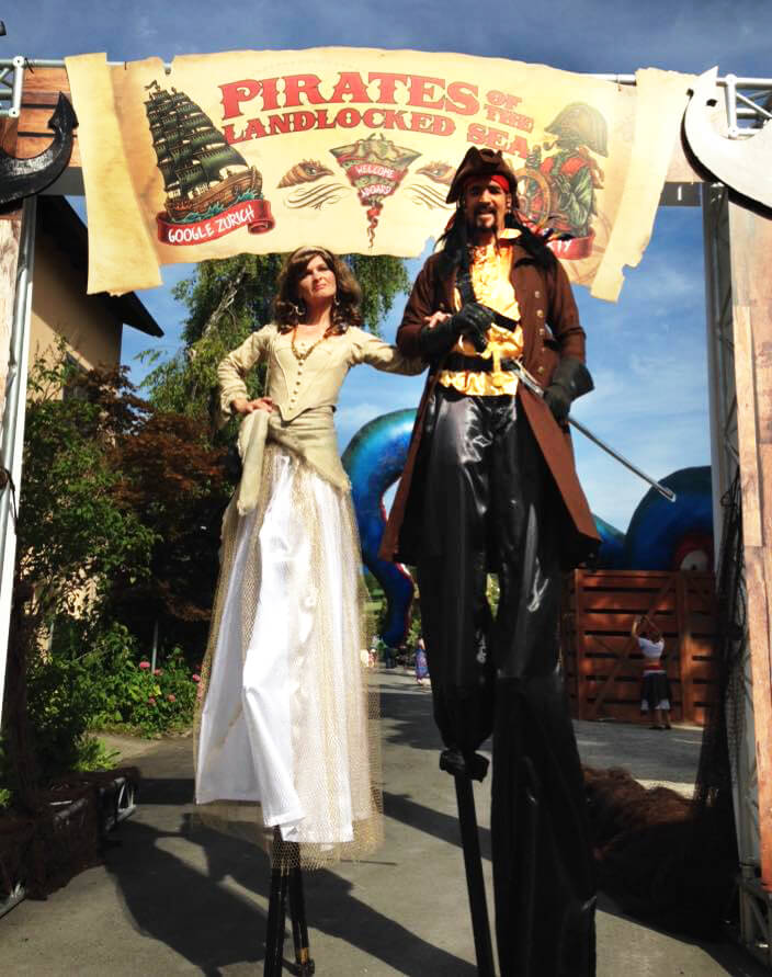 Stelzen-Klassiker   Piraten-Duo   Williams Entertainment & Friends